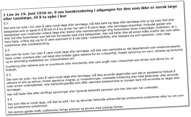 Norsk forskning om alternativ medisin bør endres