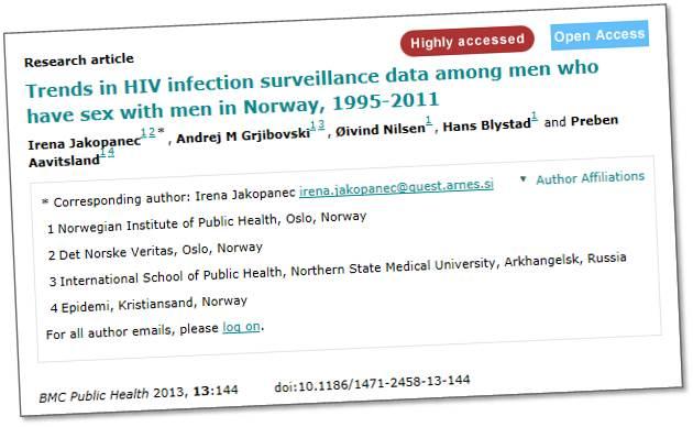 Doktorgrad: Seksuelt overførbare sykdommer hos homoseksuelle menn