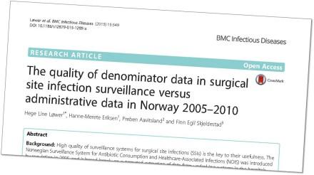 Doktorgrad: Overvåking av infeksjoner hos opererte
