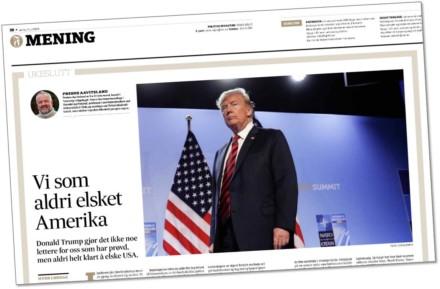 Ukeslutt-kommentarer i Fædrelandsvennen i 2018